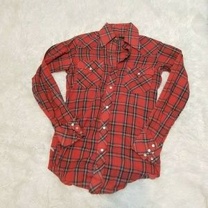 Cowgirl button down top